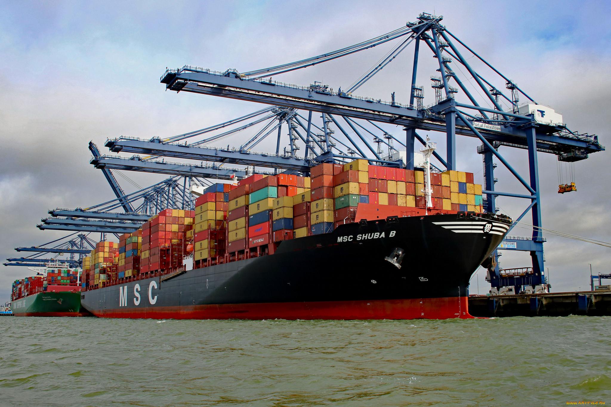фото обои рабочего стола контейнеровоз судно большими ушами, внешне
